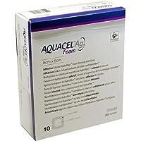AQUACEL Ag Foam adhäsiv 8x8cm Verband 10St. preisvergleich bei billige-tabletten.eu