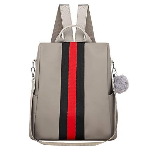 LILIHOT Damen Rucksack Mode Frauen Oxford wasserdichte Rucksack Large Capacity Stripe Bags Nylon Schultaschen Anti Diebstahl Tagesrucksack Schultertaschen -