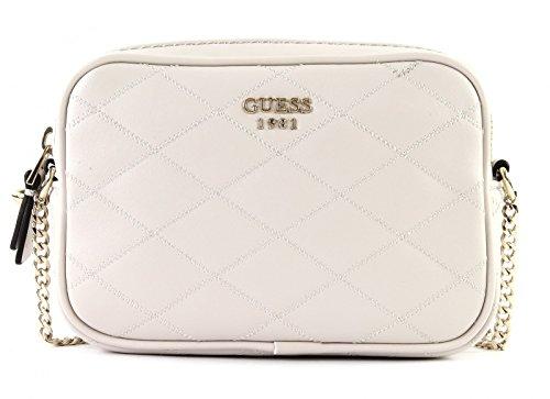 Guess Damen Bags Hobo Umhängetasche, Grau (Stone), 4.5x12x18.5 centimeters (Hobo-handtaschen-taschen Gesteppte)