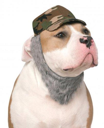 Kostüm Hunter Duck - Rubies Duck Hunter Hut mit Bart für Haustiere, Medium/Large, Mehrfarbig