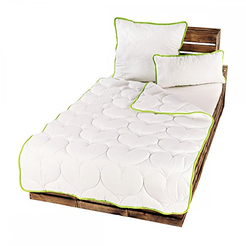 2er Pack GreenFirst Microfaser Steppdecke Bettdecke Decke Steppbett Kissen Größen wählbar, Größe:2x 135x200 cm