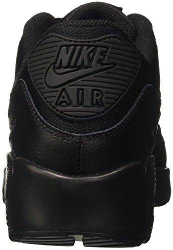 Nike Air Max 90 Mesh Gs, Entraînement de course garçon Noir (Black/Black)