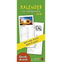 Kalender zum Selbstgestalten Großdruck - Kalender 2018