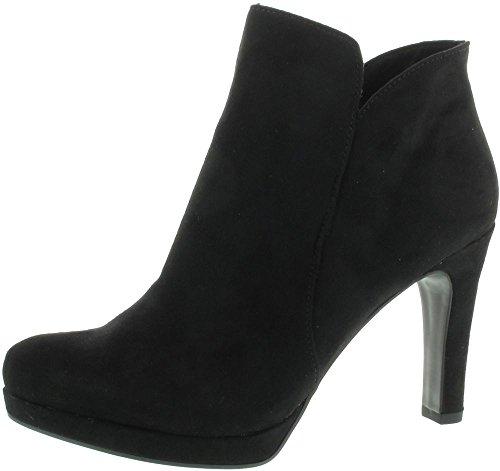 Tamaris 1-25316-20-001 Schuhe Damen Stiefeletten Plateau Ankle Boots , Schuhgröße:37;Farbe:Schwarz