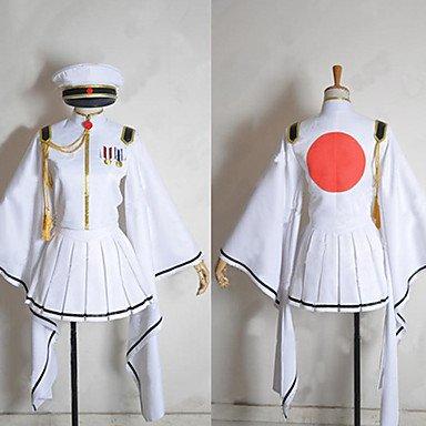 (Sunkee Vocaloid Senbon Sakura White Flame Hatsune Miku Cosplay,Maßgeschneiderte,Größe S ( Alle Größe Sind Wie Beschreibung Gesagt, überprüfen Sie Bitte Die Größentabelle Vor Der Bestellung ))