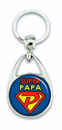 ANGORA Porte clés Super Papa – Idée cadeau papa – Fête des pères – Offrez un cadeau original