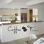 iTemer-Adesivi-da-Muro-Serie-1x-caff-Sticker-Murali-di-Rimovibile-PVC-di-Coffee-Time-con-Chicchi-di-caff-Wall-Stickers-per-Il-Muro-Vetro-Piastrelle-di-CasaCaffetteriaRistorante-100x228cm