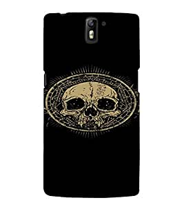 PrintVisa Cool Skull Design 3D Hard Polycarbonate Designer Back Case Cover for One Plus One