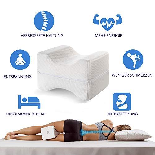 Mary´s Orthopädisches Kniekissen | Memory Foam | Geeignet für Seitenschläfer |...