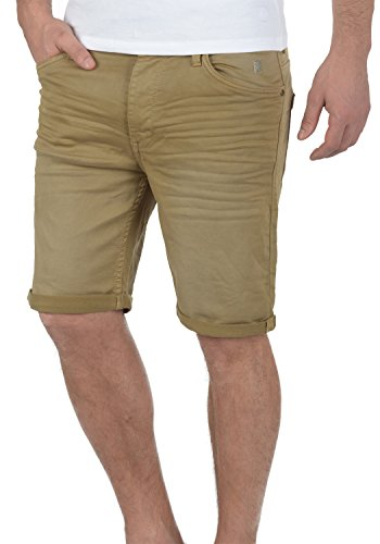 Blend Diego Herren Jeans Shorts Kurze Denim Hose Aus Stretch-Material Slim Fit, Größe:L, Farbe:Safari Brown (75115)