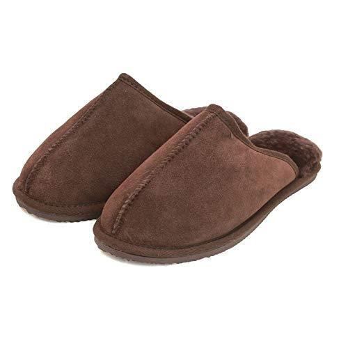 Eastern Counties Leather Unisex Pantoffeln mit Schaffell-Futter (45 EU) (Schokolade) -