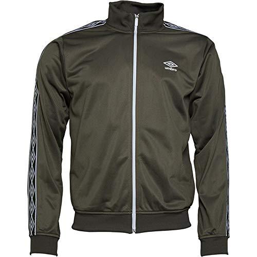 Umbro Herren Sweatshirts Active Style Taped Full Zip Track Top Retro Jacke Gr. X-Large, Khaki (Retro Herren-khaki)