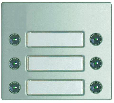 Bticino placas modul.sfera - Frontal 6 pulsador doble sfera aluminio