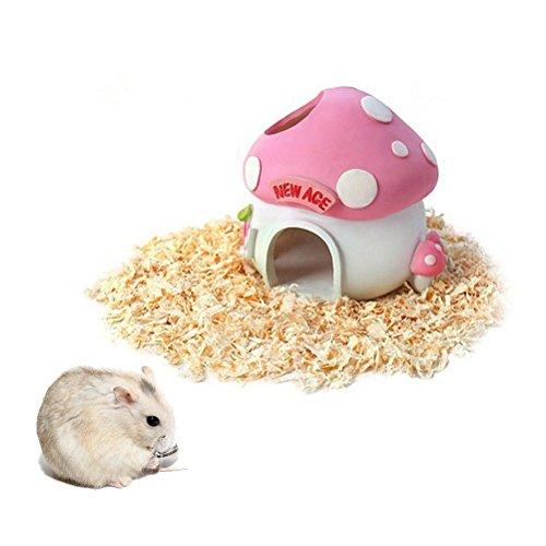 OULII Haustier kleines Tier versteck Haus Pilz Harz Hideaway Nido Bett Kabine für Hamster Maus Ratte Hase (Haus Kabine)