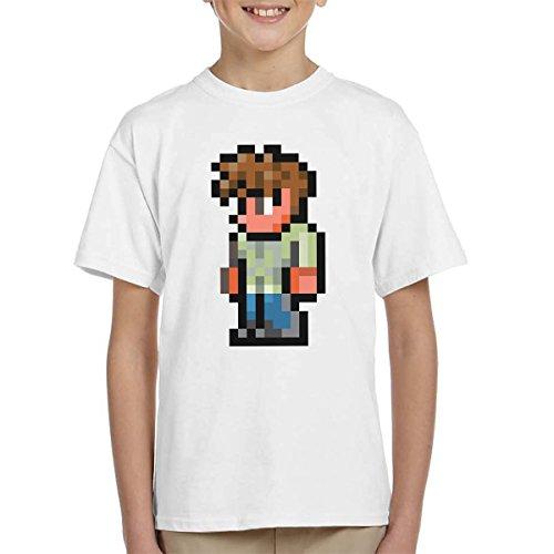 Terraria The Guide 8 Bit Kid's T-Shirt