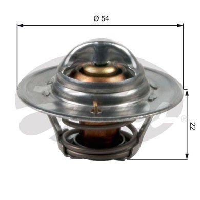 Gates TH12782G1 Thermostat, Kühlmittel (Spitfire-ersatz)