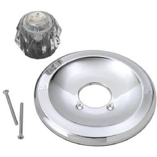 BRASSCRAFT sk0095Single Griff Badewanne und Dusche Trim Kit für Delta Armaturen 600Serie, klar und Chrom - Delta-badewanne-griffe