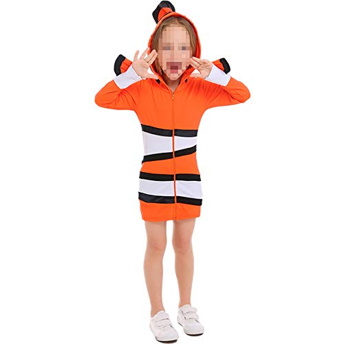 Clownfish Kostüm - kMOoz Halloween Kostüm,Outfit Für Halloween Fasching Karneval Halloween Cosplay Horror Kostüm,Clownfish Kostüm Marine Thema Party Kleid Halloween Cosolay Bühnenanzug