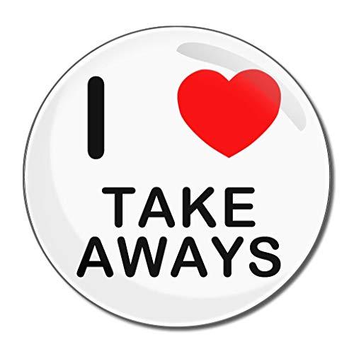 I Love Take Aways - Miroir compact rond de 77 mm