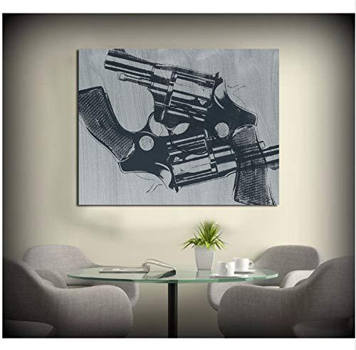 haoxinbaihuo Die Waffe Moderne Wandbilder Für Wohnzimmer Malerei Wandmalerei Bild Leinwand Kunst Kein Rahmen 20 * 24 Zoll