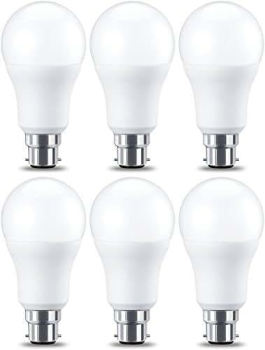 AmazonBasics Ampoule LED à baïonnette B22 A60, 10.5W (équivalent ampoule incandescente de 75W), blanc chaud -