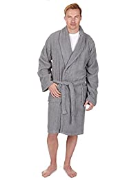 Pierre Roche Men's Towel Robe Dressing Gown - Sizes M-XXL