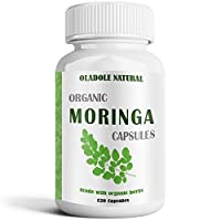 Oladole Natural Moringa Leaves Extract, 500 mg, 120 Vegetarian Capsules