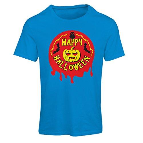 Lepni.me maglietta donna happy halloween (large azzulo multicolore)