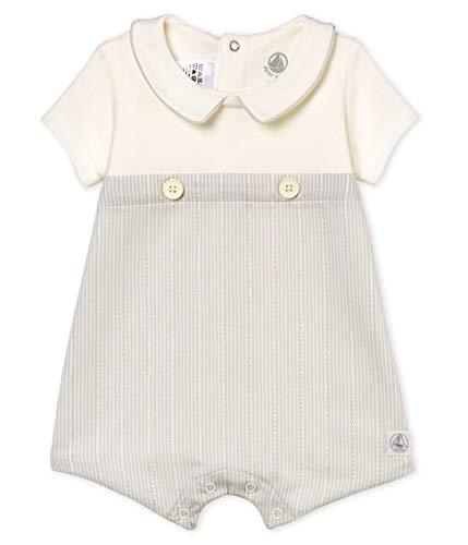Petit Bateau Baby-Jungen Spieler Belly Mehrfarbig (Marshmallow/Perlin 01) 62 (Herstellergröße: 3M/60cm)