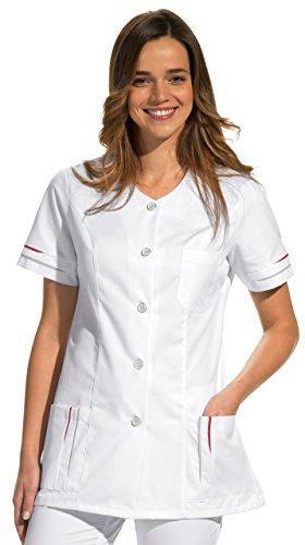 clinicfashion Kurzkasack weiß für Damen, Mischgewebe, Größe 36-52 Weiß