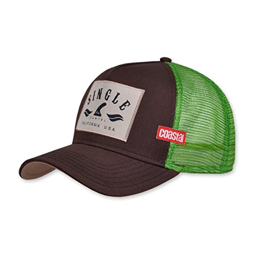 COASTAL - Single Fin (brown) - High Fitted Trucker Cap