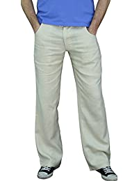 101-38 pantalons pour hommes, garçons pantalons, 100% lin, bleu, beige, brun, vert, noir, blanc, M, L, XL, XXL, XXXL.