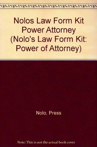 Nolo's Law Form Kit: Power of Attorney por Press Nolo