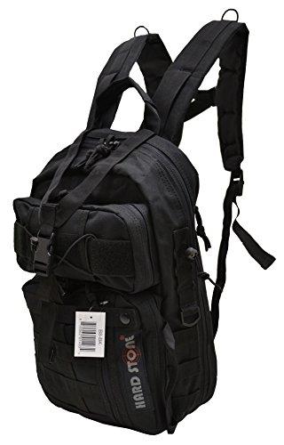 EXPLORER Jeden Tag Carry Tactical Hydration Pack bereit Rucksack mit MOLLE-& Brustgurt, Unisex, schwarz -