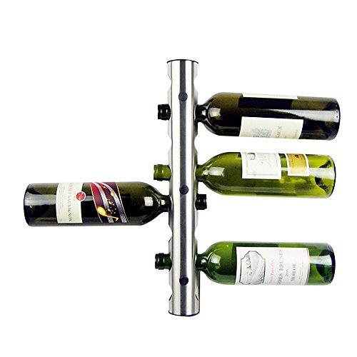 Regal für Wein Neue Kreative 8 Löcher Metall Edelstahl Wand Montiert Wein Flasche Halter Wein Rack Halter Einzigartig Für Bar Home Decoration