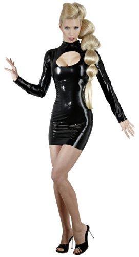 Latex Minikleid schwarz