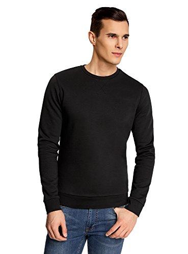 oodji-Ultra-Homme-Sweat-Basique-avec-Encolure-Arrondie-Noir-FR-56-XL