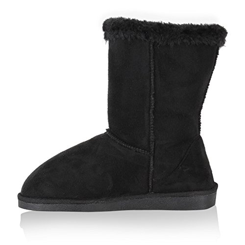 Macias Botas Pretas Ankle Alinhados Quentes Peluches Mulheres Boots fwqBUFw