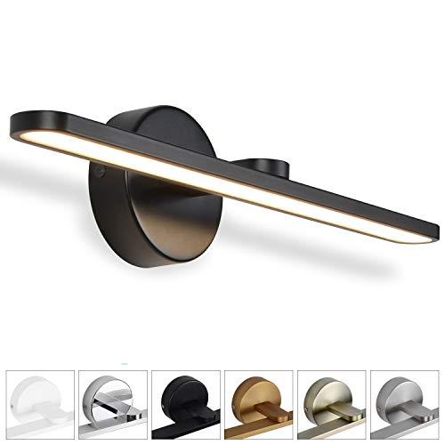 MantoLite LED Wandleuchte Bild Licht,Aluminium Artwork-Beleuchtung Fixture,Badezimmer Spiegel-Leuchte 11W 880LM 40CM Warmweiß Lampe Schwarz Finish -