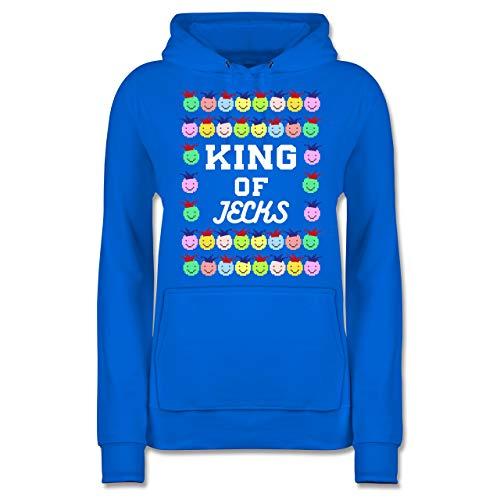 Karneval & Fasching - King of Jecks - XXL - Himmelblau - JH001F - Damen ()