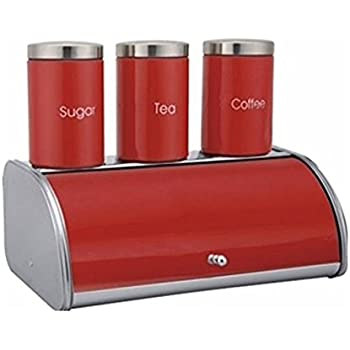 Home, Furniture & Diy Smart Bread Bin & Canister Set Coffee Sugar Tea Stainless Steel Jar Holder Kitchen