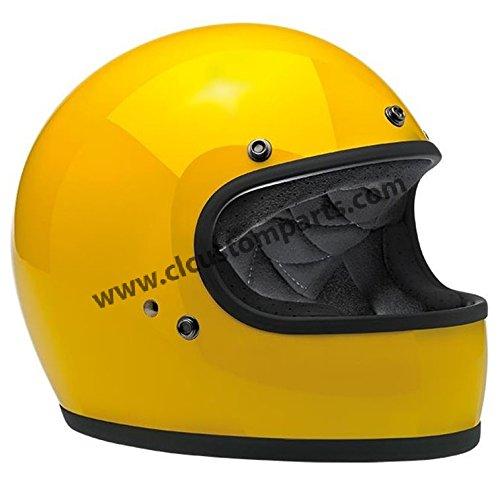 Casco Gringo Biltwell Safe-T Yellow Giallo Integrale Helmet Vintage Retrò Anni 70 Custom Chopper Bobber Taglia L