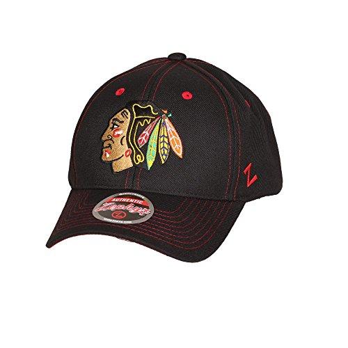 zephyr-nhl-chicago-blackhawks-staple-curved-snapback-cap