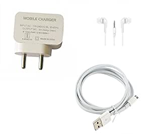 PARAN Combo of Data Cable, Adapter & Earphones Of SONY xperia M5 :MANI-PR1182