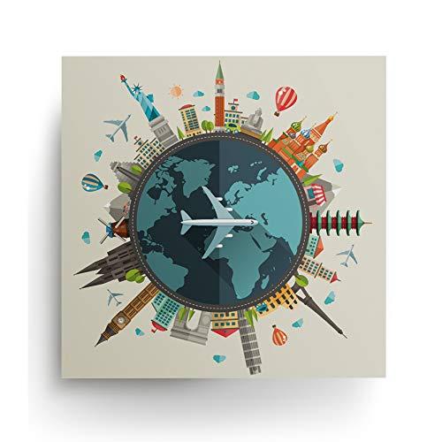 Decords Mapa del Mundo Viajar Cartel Viajero Carteles Regalos Imprime cumpleaños de la casa de Viaje impresión de Regalo Ideas de Regalos de Arte imprimible para Hombres Mujeres