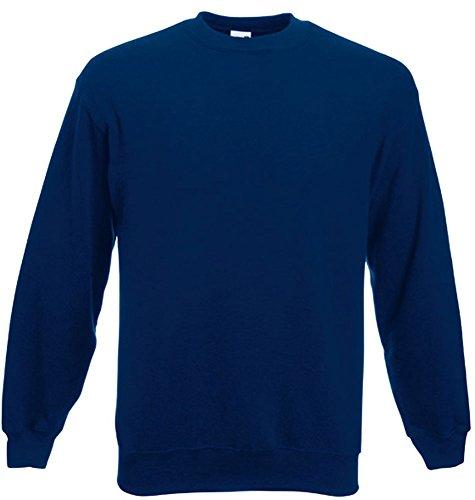 Fruit of the Loom - Set-In Sweatshirt - marine - Größe: L