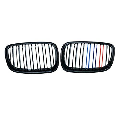 ABS Voiture en Plastique Avant M-Couleur Grillages Double Ligne Gloss Noir pour Grillages BMW X5 X5M X6 X6M E70 E71 08-13 Regard