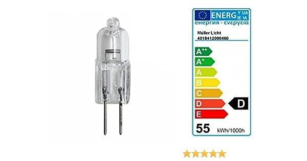 warmweiß 2x GY6,35 Stiftsockellampe 800lm 50W Halogen klar