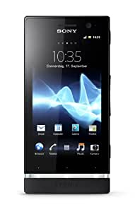 Sony Xperia U Smartphone (8,9 cm (3,5 Zoll) Touchscreen, 5 Megapixel Kamera, Android 2.3 OS) schwarz/weißes Wechselcover