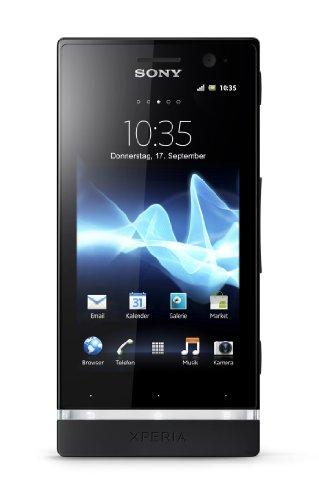 Preisvergleich Produktbild Sony Xperia U Smartphone (8, 9 cm (3, 5 Zoll) Touchscreen,  5 Megapixel Kamera,  Android 2.3 OS) schwarz / pinkes Wechselcover